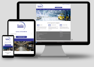 Bluesky Global Logistics new website